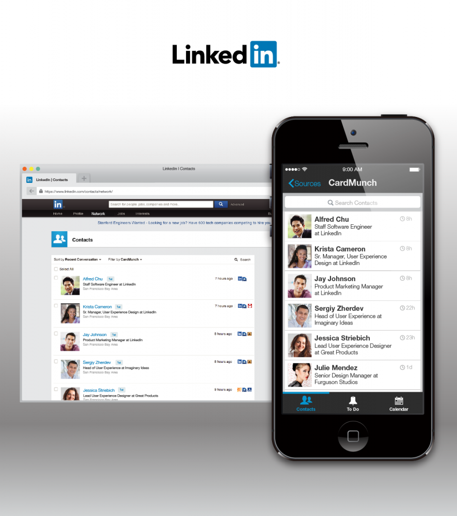 linkedin contacts evernote experience